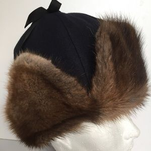 Accessories - Russian aviator fur hat
